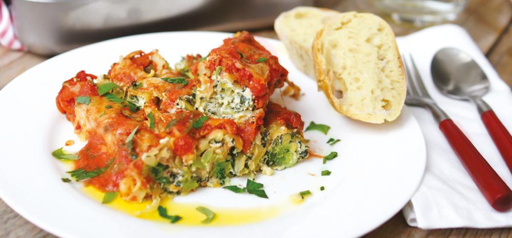 Gefüllte Cannelloni mit Ciabatta