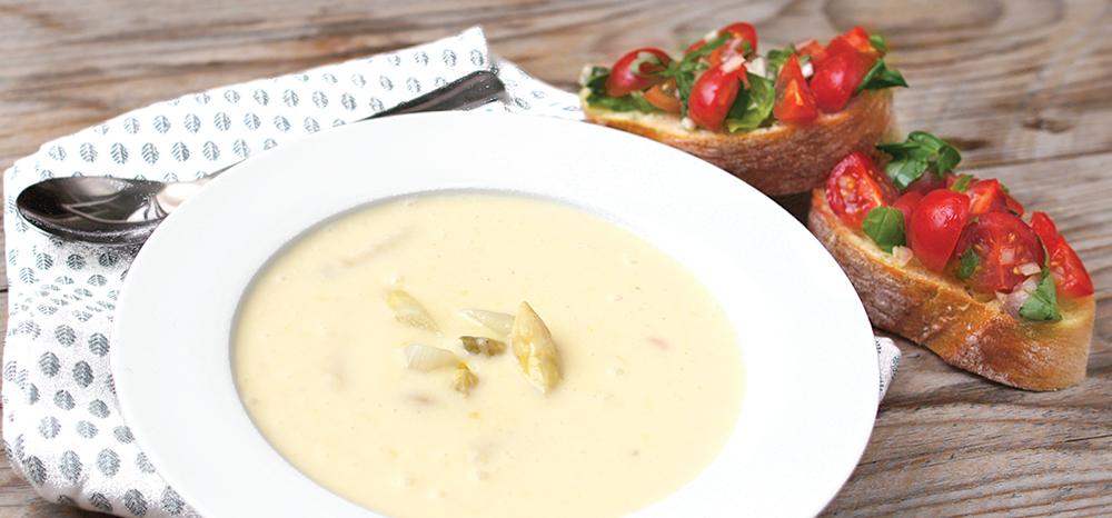 Leckere Cremesuppe zur Spargelzeit!