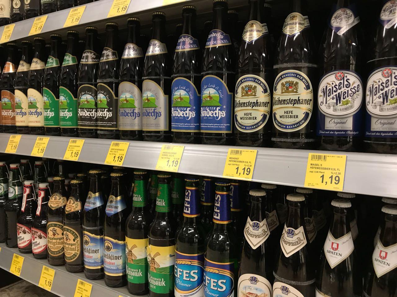 Internationale Biere aus der ganzen Welt